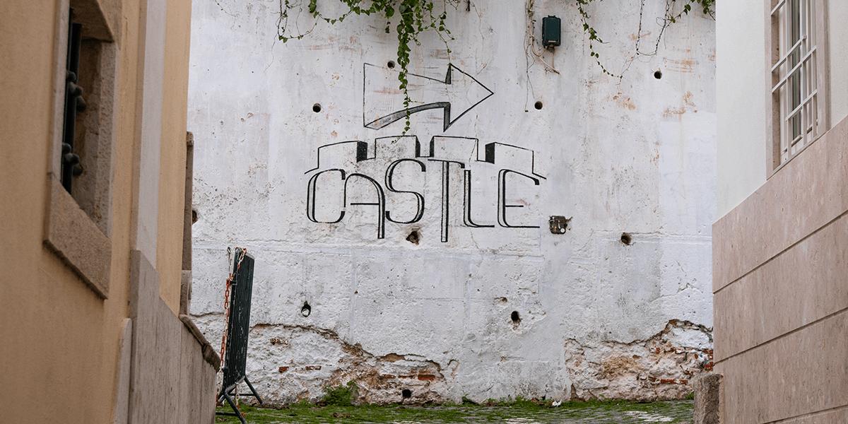 Aufstieg zum Castilo Sao Jorge Lissabon