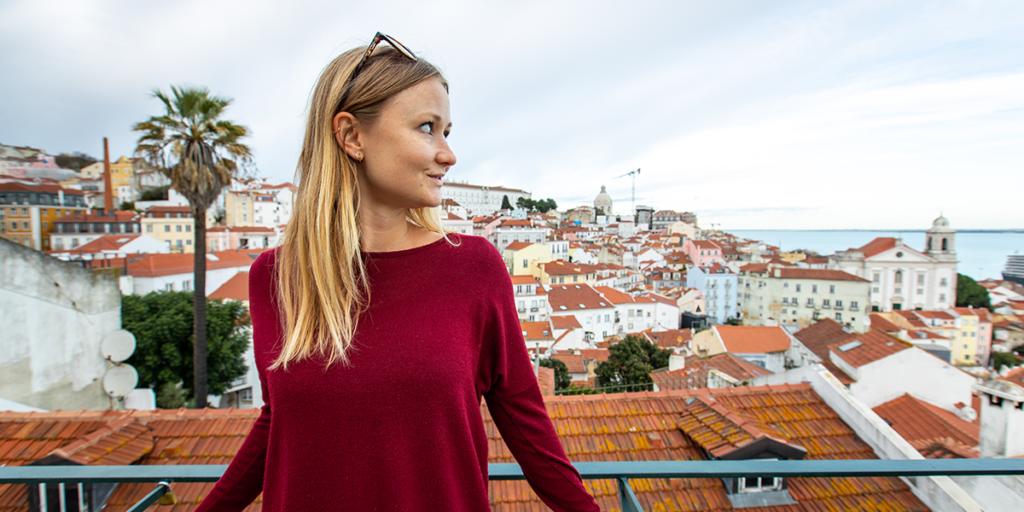 Aussicht vom Miradouro de Santa Lucia Lissabon