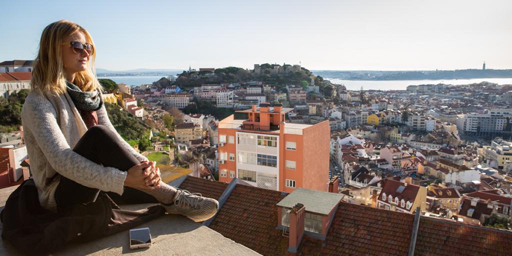 Miradouro de nossa Sinhora do Monte Lissabon