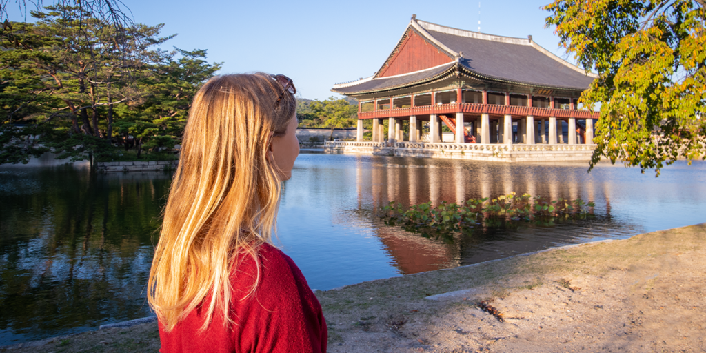Solo Reise nach Südkorea Seoul Gyeongbokgung Palace
