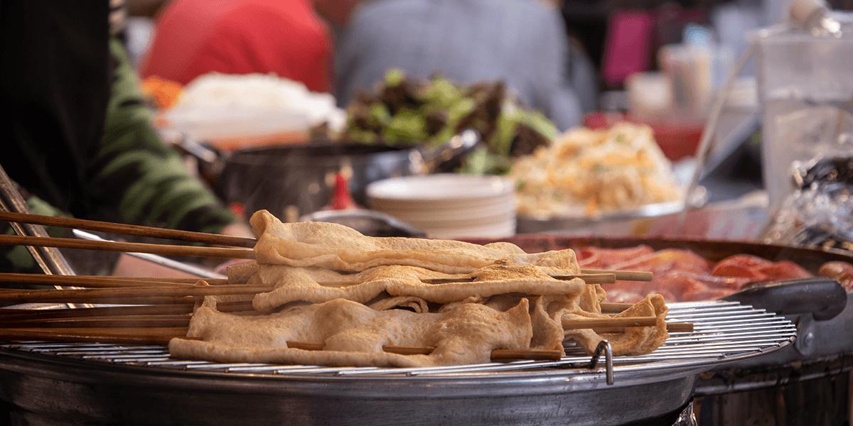 Streetfood im Gwangjang Market Seoul Südkorea
