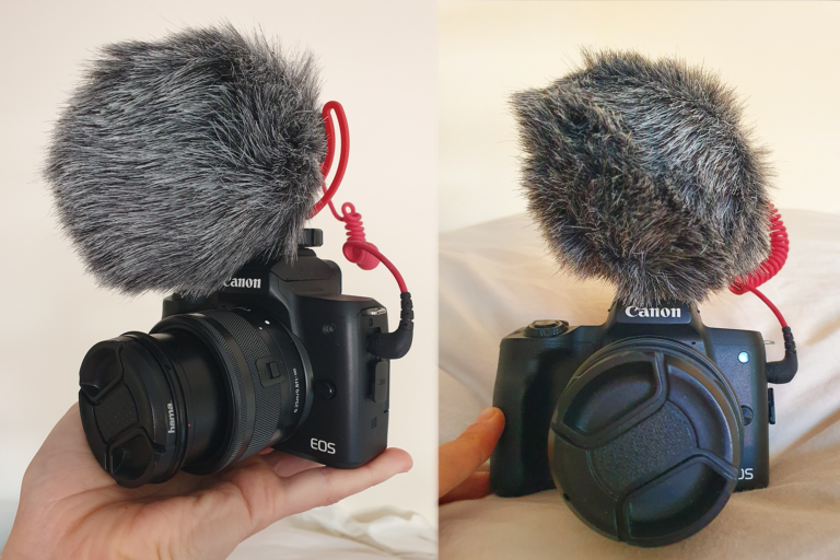 canon eos m50 +rode microphone