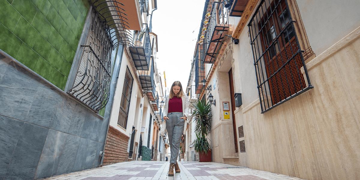 Malaga Altstadt bunte Häuser
