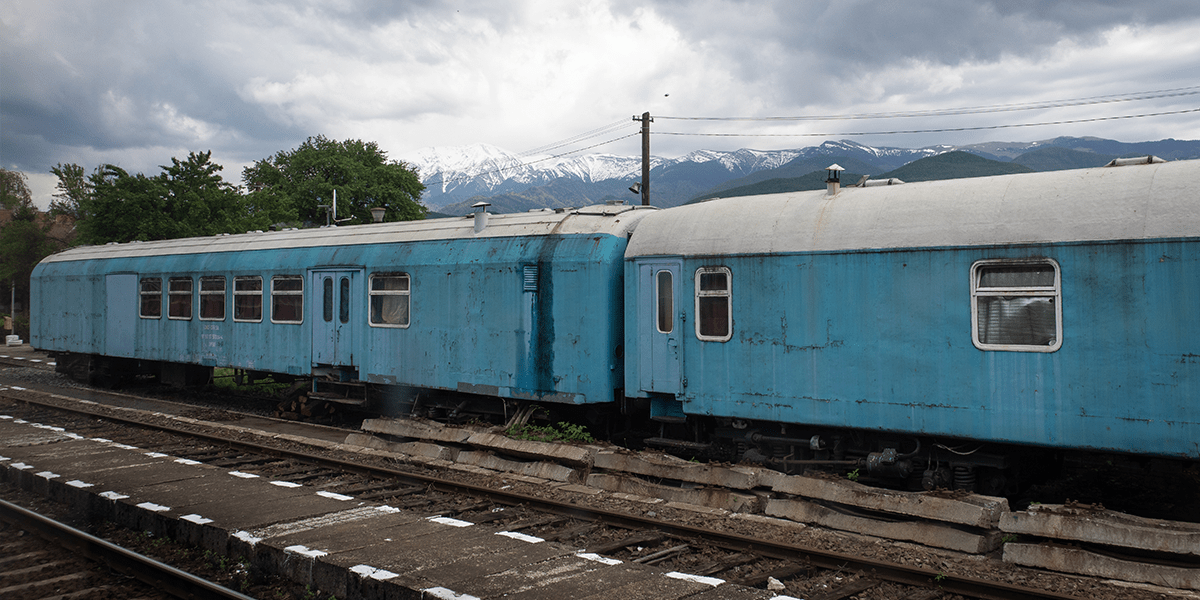 Zugfahren in Rumänien